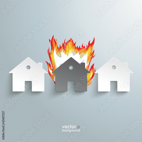 Three Paper Houses Fire