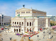 Leinwanddruck Bild - Alte Oper in Frankfurt