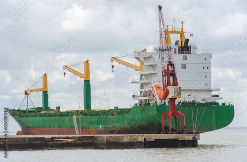 Merchant ship in the port