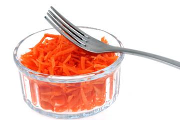 Ramequin de carottes râpées
