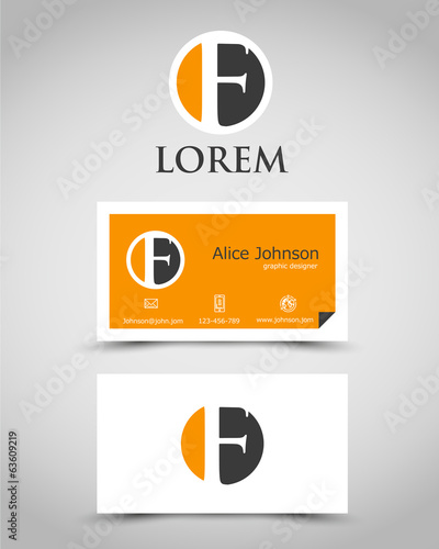 modern business card F