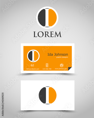 modern business card I