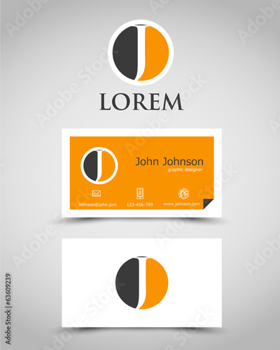 modern business card J
