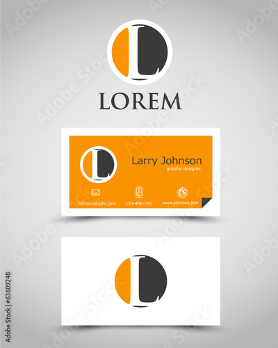 modern business card L