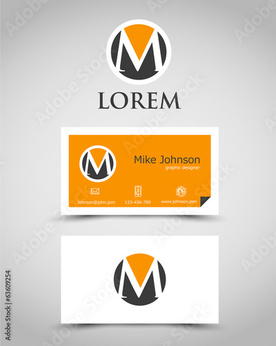 modern business card M