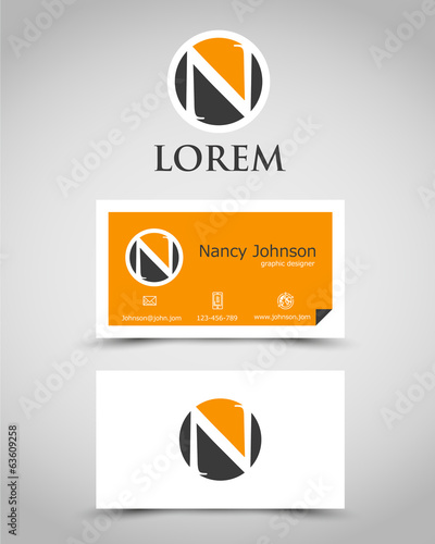 modern business card N