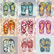 Summer Flip Flops vector collection