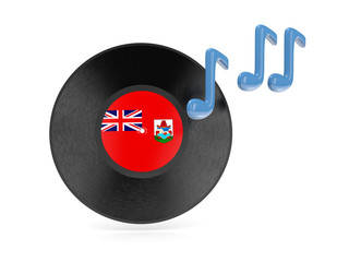 Vinyl disk with flag of bermuda