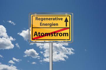 Regenrative Energien ersetzen Atomstrom