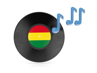 Vinyl disk with flag of bolivia