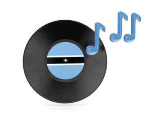 Vinyl disk with flag of botswana