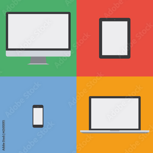 flat design device colorful