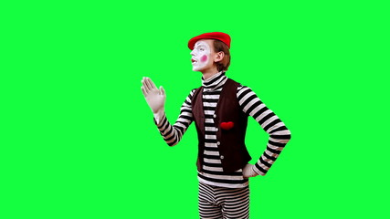 Mime With the Virtual Screen