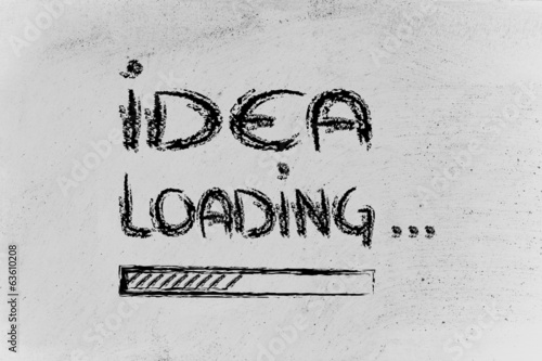 idea loading, progress bar
