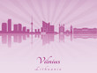 Vilnius skyline in purple radiant orchid