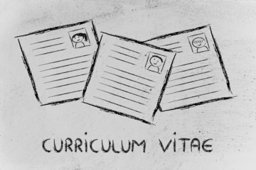 funny curriculum vitae design, the recruitment process