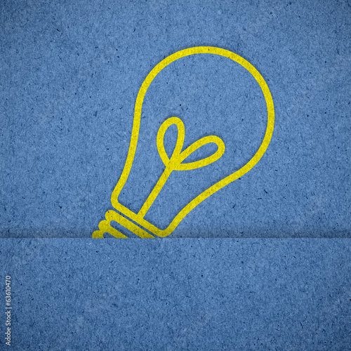 Light icon on blue paper texture