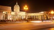 Kazan Cathedral at night. St Petersburg. Russia. timelapse