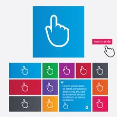 Hand cursor sign icon. Hand pointer symbol.