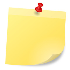 gelber Notizzettel