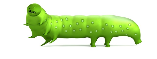 realistic 3d render of caterpillar
