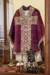 Clergy vestments - Chasuble, Rochet and Maniple