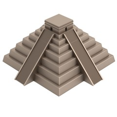 realistic 3d render of pyramide