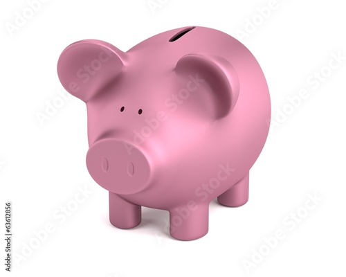realistic 3d render of piggy bank