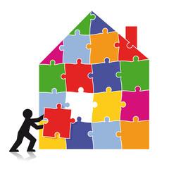 Puzzle Bauwerk