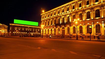 City billboard. St Petersburg. Russia. timelapse 6