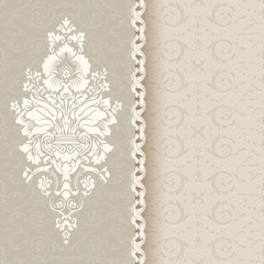 Beautiful vintage background with seamless pattern