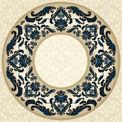 Elelegant round floral frame