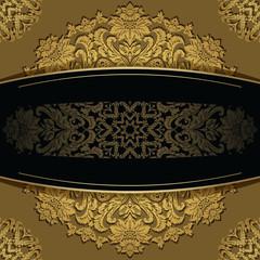 Elegant vintage background with baroque floral frame