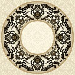 Vintage round floral frame