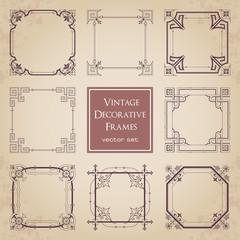 Vintage decorative frames - set 2