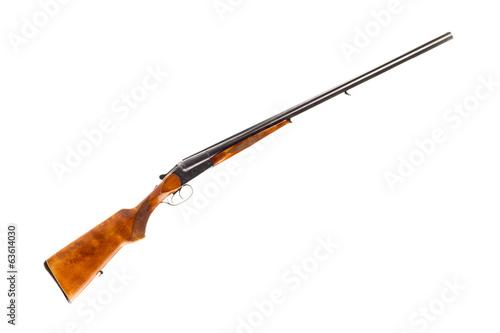 Fotobehang Jacht Hunting double-barrelled gun
