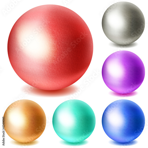 Set of multicolored spheres