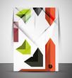 Multipurpose CMYK geometric print template
