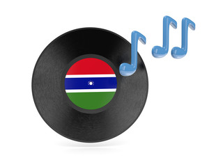 Vinyl disk with flag of gambia