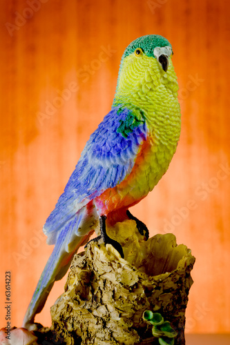 Parrot, Multi Colored, statuette