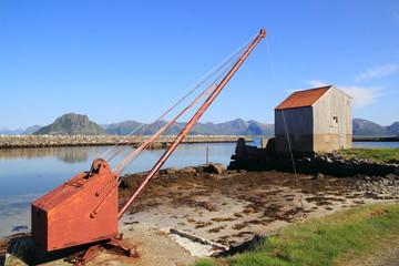 abandoned Kvalnes in Lofoten