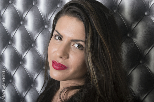 Beautiful exotic latina model (portrait, abstract background)