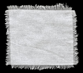 Flap burlap background, piece of natural material