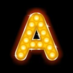 Light Bulb Letter A
