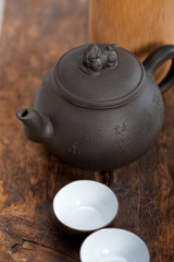 chinese style pot and cups