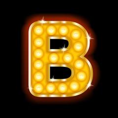 Light Bulb Letter B