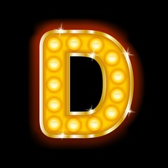 Light Bulb Letters D