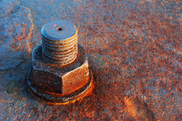 rusty screw head