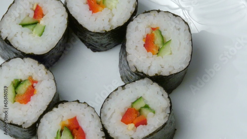 Sushi  isolated on white background
