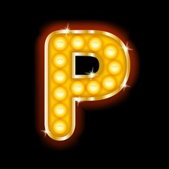 Light Bulb Letters P
